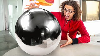 Download WORLDS BIGGEST MIRROR POLISHED FOIL BALL! - Japanese Foil Ball Challenge Mp3 and Videos