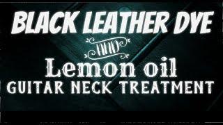 Dye and lemon oil neck treatment