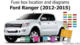Fuse Box Location And Diagrams Ford Ranger 2012 2015 Youtube
