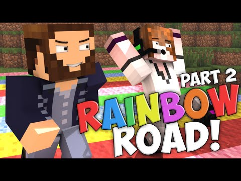 "Minecraft: EXTREME Rainbow Road! ""We Don't Cheat At All!"" PART 2 w/Deadlox"