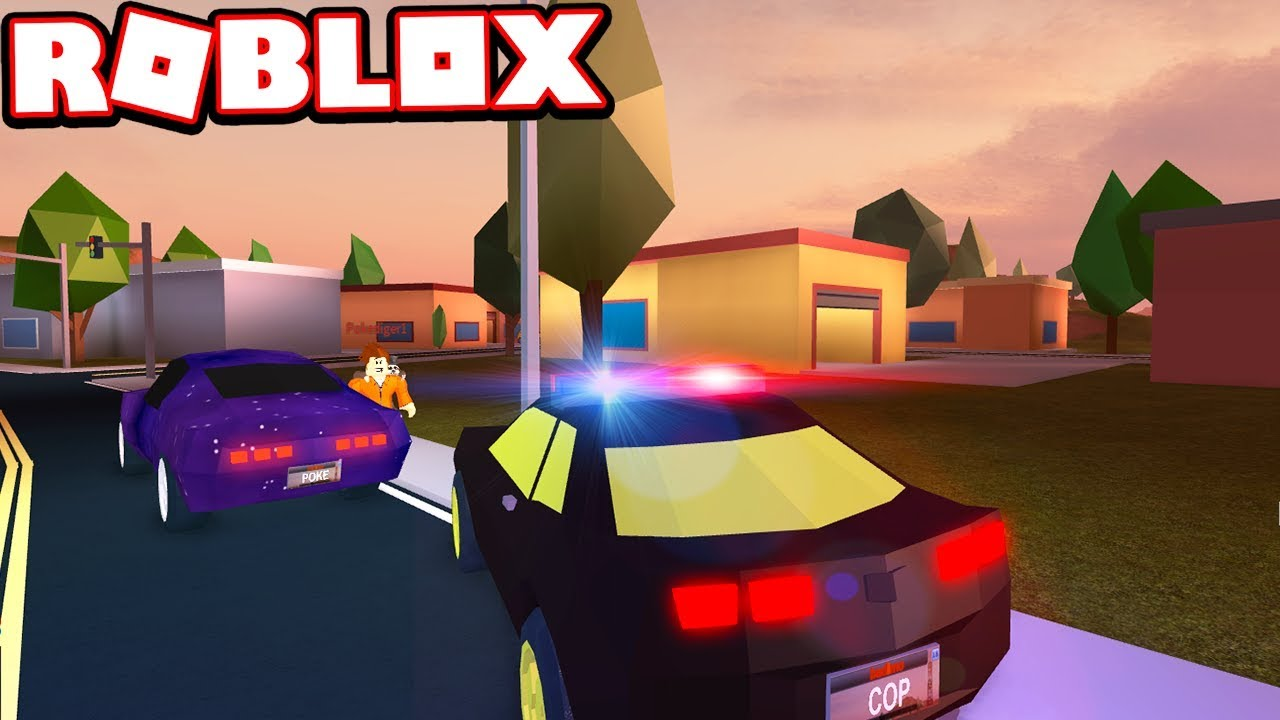 PULLING OVER A CRIMINAL WITH A COP CAR!!! (Roblox Jailbreak)