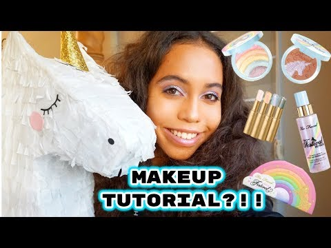 MAKEUP TUTORIAL?!!! TOO FACED LIFES A FESTIVAL COLLECTION!!