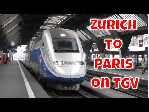 Inside High Speed TGV from Zurich to Paris in 3 min- top speed 317km/h