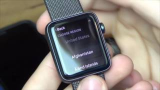 Apple Watch 42mm Series 2 Unboxing and Setup (Black Woven Nylon)