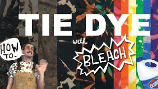 How To Tie Dỳe (WITH BLEACH)