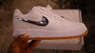 88adab41a3fb Nike x Travis Scott Air Force 1 Low Unboxing   Quick look (White Gum