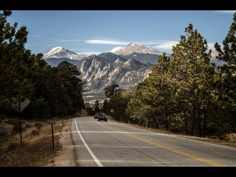 Driving From Lyons, CO To Rocky Mountain National Park (HD Time Lapse)