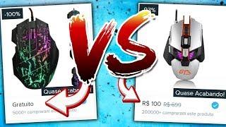 MOUSE GAMING GRÁTIS VS MOUSE GAMING DE R$100 (qual melhor?)