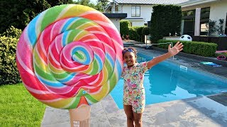 GIANT LOLLIPOP POOL PARTY CHALLENGE!!