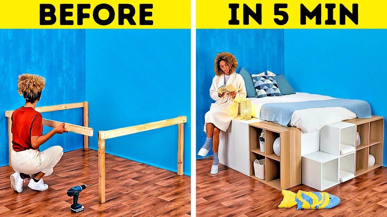 Download DIY Platform Bed || Cool Home Decor And Room Design Ideas