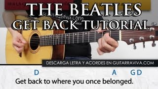 Get Back Beatles en guitarra fácil clase tutorial completo acordes español guitarra acústica