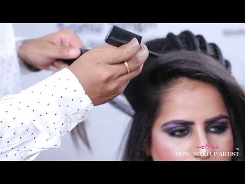 HOW TO CREATE LINE AT HAIRSTYLE || LOW BUN || PARTY HAIRSTYLE || TUTORIAL