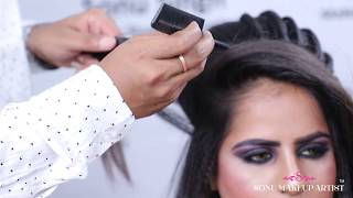 HOW TO CREATE LINE AT HAIRSTYLE    LOW BUN    PARTY HAIRSTYLE    TUTORIAL