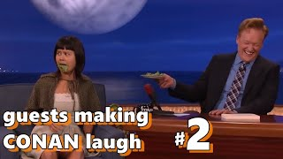 Guests making Conan laugh #2 | COMPILATION
