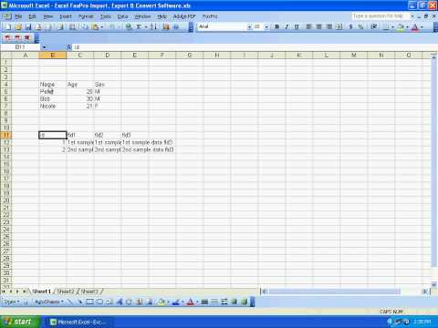 Sobolsoft Com How To Use Excel FoxPro Import, Export & Convert Software