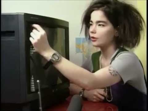 The Sugarcubes •ั live - Cat & Birthday + Björk interview (Zabor, 1988) (3/6)
