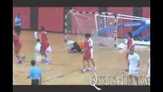 عنابي اليد يقترب من منصة التتويج بلقب بطولة قطر الدولية بعد انتصار كاسح على منتخب ايران