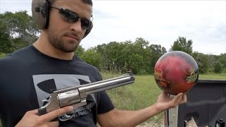 S&W 500 Magnum vs Bowling Ball