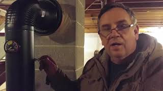 Wood Stove Install 5 Part 5 Connect Stove Pipe to Chimney Flue Liner Howto DIY