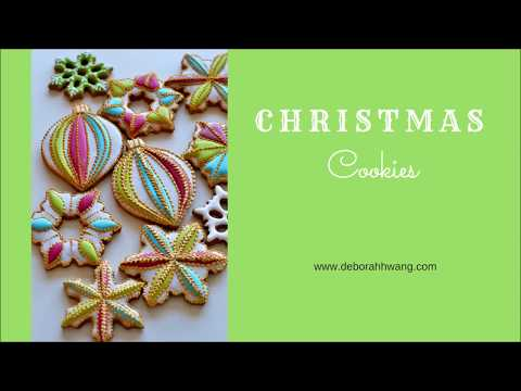Christmas Cookies Decorating With Royal Icing