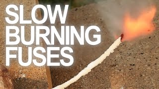 For this project I used items from around the house to create a pyrotechnic time-delay. Here's how to make a simple form of a slow burning fuse, because when ...