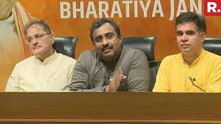 Ram Madhav Announces Break-Up With PDP In J&K | Full Press Conference