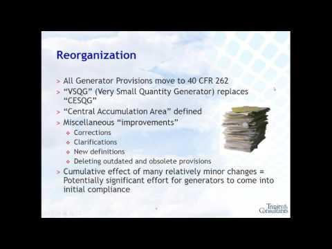2017 01 12 12 00 New HazWaste Generator Improvements Final Rule