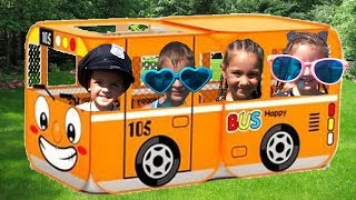 Kids play with Bus