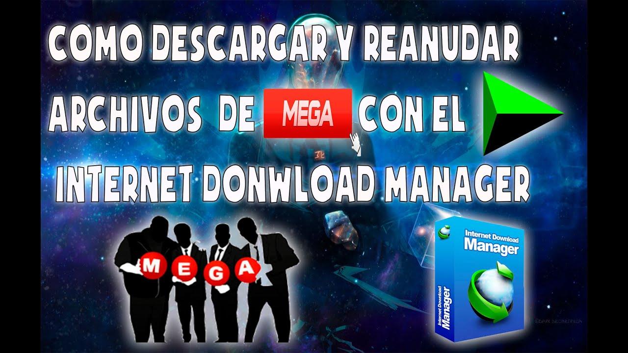 Como Descargar y Reanudar Archivos de Mega con el IDM (Internet ...