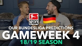 Bundesliga Tips - Gameweek 4 - 2018/2019