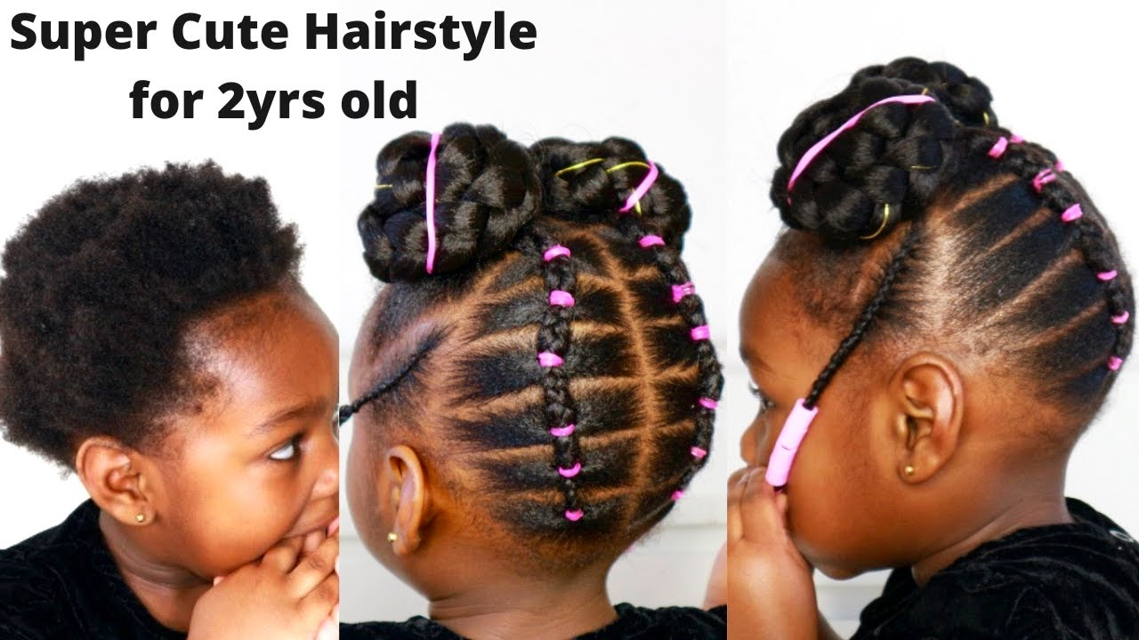 Can T Braid Or Cornrow Try This Cute Protective Hairstyle Toddler