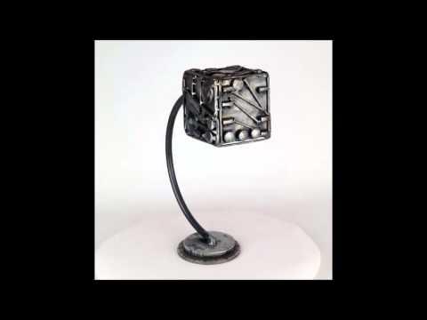 Abstract metal sculpture / Science fiction metal sculpture