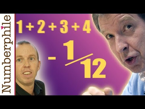 ASTOUNDING: 1 + 2 + 3 + 4 + 5 +. = -1/12