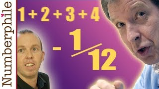 ASTOUNDING: 1 + 2 + 3 + 4 + 5 + ... = -1/12