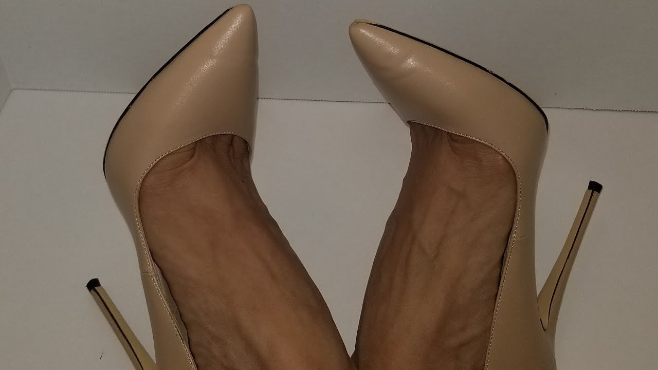 IRIS 2017 New Nude Beige High Heels Women Pumps Pointed