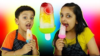 JELLY ICE CANDY   Learn colours shapes   Kids Cooking real food   Aayu And Pihu Show