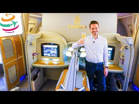 LUXURY Overkill! EMIRATES First Class 777-300ER | GlobalTraveler.TV