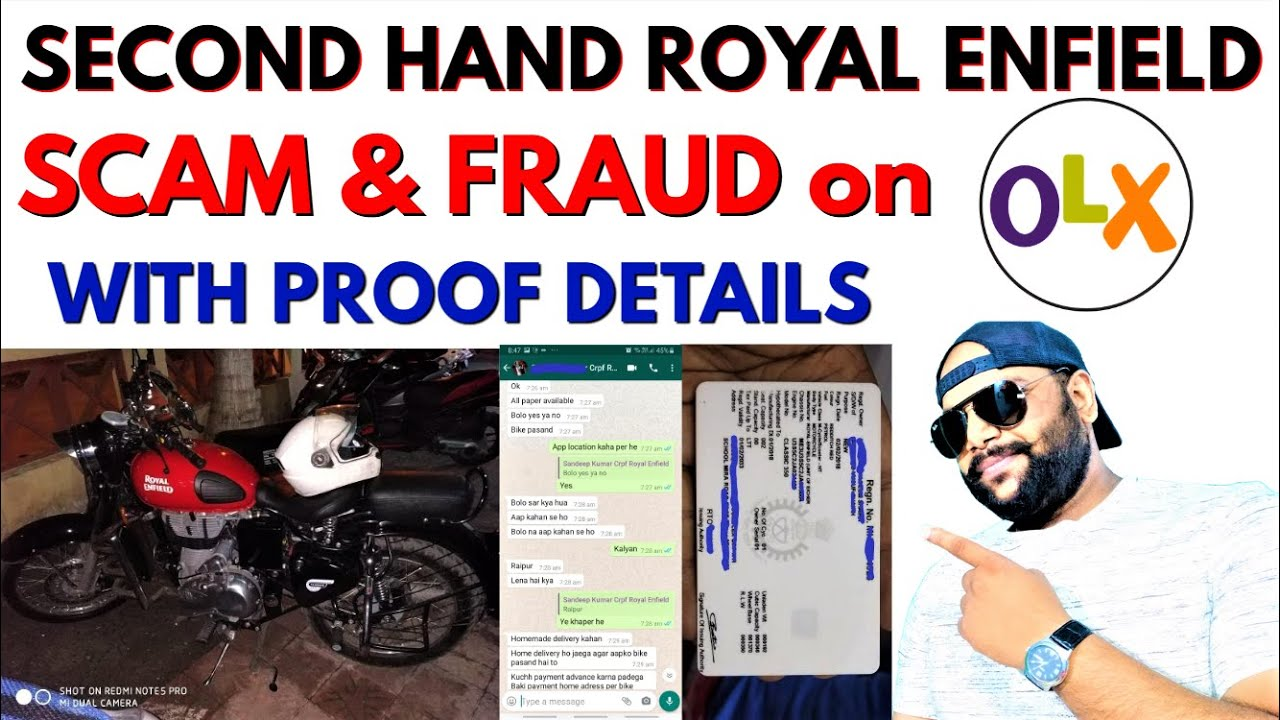 OLX Royal Enfield SCAM - Second Hand Bikes FRAUD on OLX with Proof Details | मूर्ख मत बनो