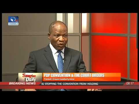 P/Harcourt Court Judgement On PDP Convention Supercedes Abuja Court Order - Legal Practitioner Pt 1