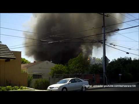 Fire in Baldwin Park, CA 06/30/12 (RAW FOOTAGE)