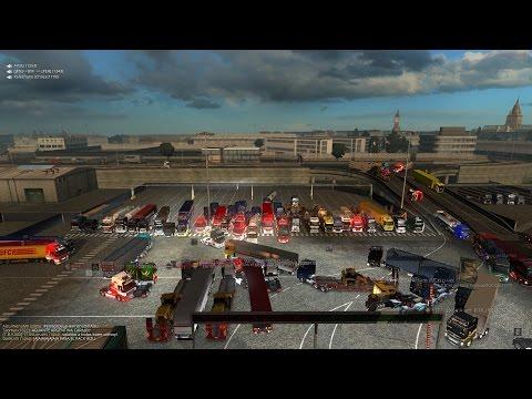 MEGA Convoy! +80 Personas en Atascadero! Euro Truck Simulator 2