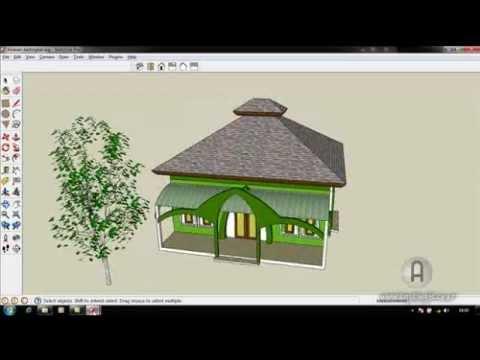 Cara Membuat Atap Limasan Dengan Sketchup 8 by Argajogja
