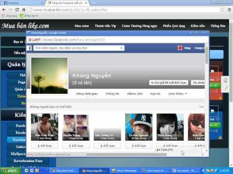 Hướng dẫn tăng like cho page,ảnh và tăng sub trên muabanlike.com