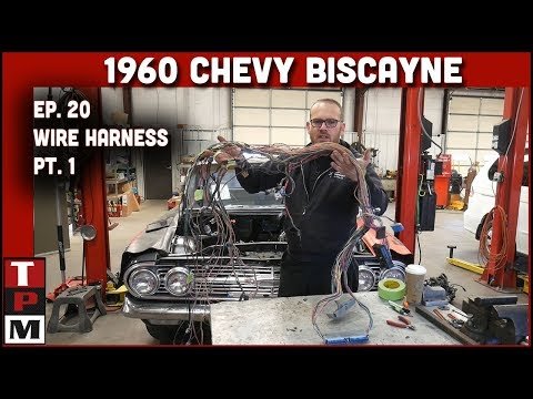 Repeat 1960 Biscayne LS Swap Ep 20 Stripping down wiring harness and