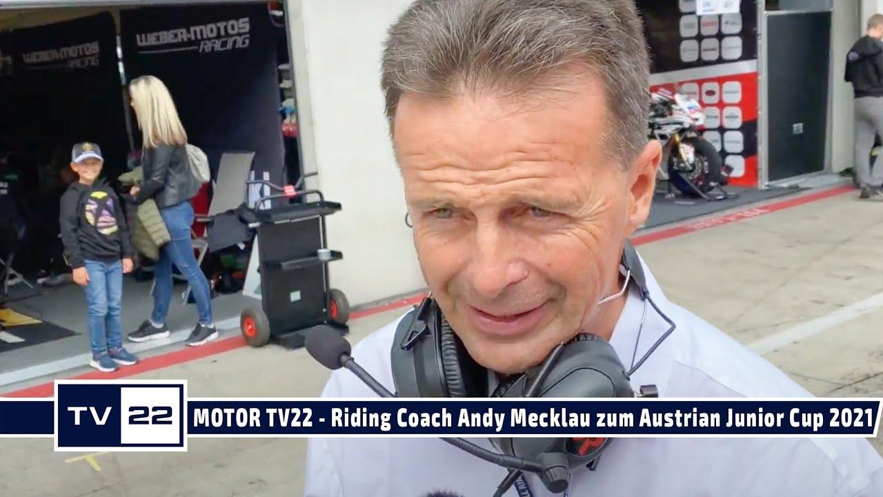 MOTOR TV22: Riding Coach und Rennleiter Andy Mecklau zur ersten Saison des Austrian Junior Cup 2021