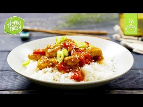 Hähnchen Süß Sauer Asiatische Rezepte Youtube
