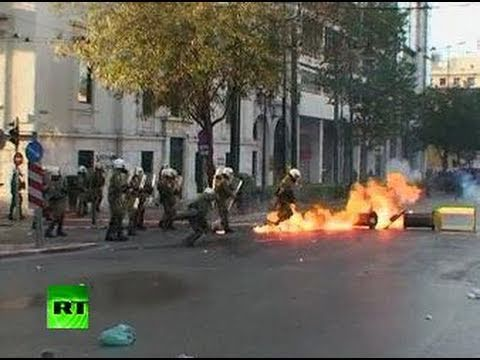Video of Greece clashes as youths, police scuffle on teen death anniversary