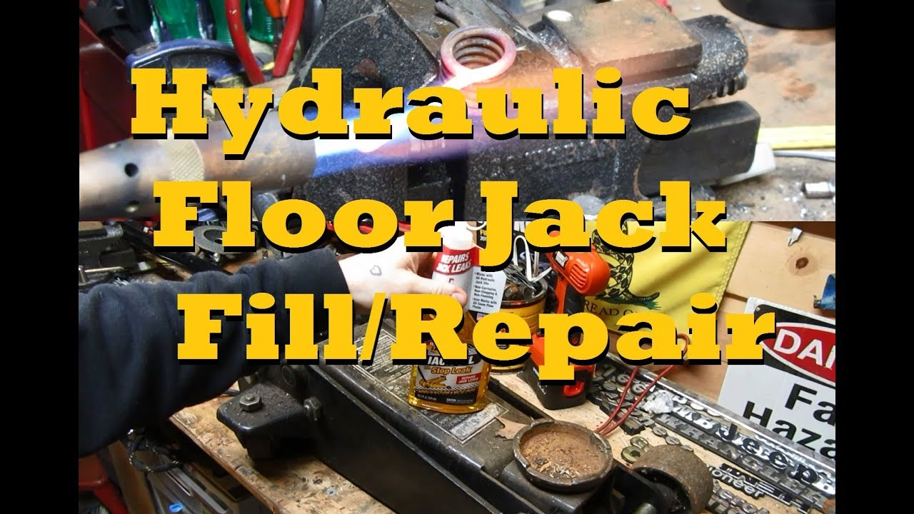 How To Completely Repair Revive A Hydraulic Floor Jack Youtube