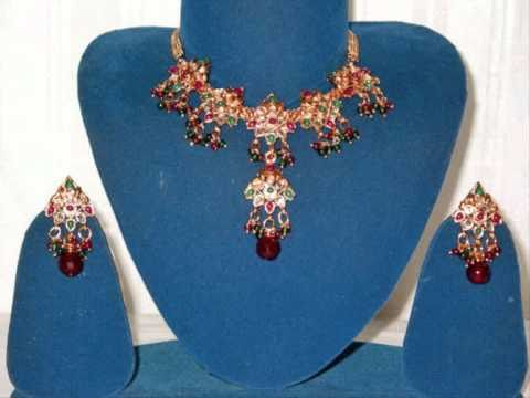 Gold Plated Indian Wedding Jewelry Set