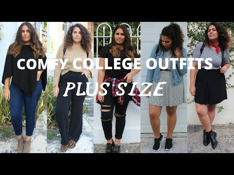 Comfy College Outfits +Plus Size// Tallas grandes